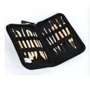 EHAO 14pcs Wooden Deluxe Pottery Art Metal Pottery Clay Sculpture Hand Crafts Tools
