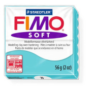 Staedtler Fimo Soft Peppermint (39) Oven Bake Modelling Clay Moulding Polymer Block Colour 56g