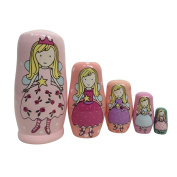 TOYMYTOY 5Pcs Russian Nesting Dolls Fairy Style Russian Toy Set