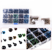 264pcs 6-12mm Plastic Safety Eyes for Teddy Bear Doll Puppet Craft Colourful