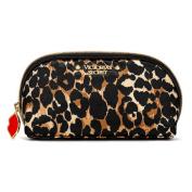 Victoria's Secret New Genuine Womens Leopard Lips Charm Makeup Bag