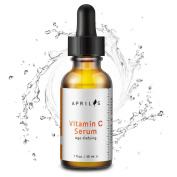 Aprilis Vitamin C Serum for Face, Neck & Décolleté and Eye, Organic Anti-Ageing Topical Facial Serum with Hyaluronic Acid, Repairs Sun Damage & Dark Spots, 30ml