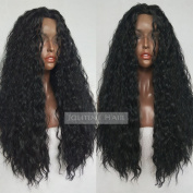 Jolitime Hair Loose Curly Synthetic Lace Front Wigs Long Curly Lace Wigs for Black Women