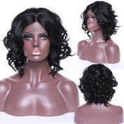 Lace Front Wig Long Wavy Synthetic Wigs for Women Sexy Fashion Full Wig Party Natural #1B Off Black