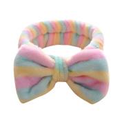 Spa Bath Headband, KaloryWee Beauty Cute Women Girl Bow Knot Soft Hairband Head Wrap Bath Spa Face Headband