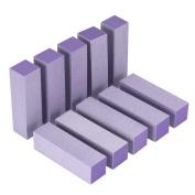 Ulable 10pcs Portable Women Buffer Acrylic Nail Beauty Art Sanding Block Files