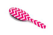 Rock & Ruddle Natural Bristle Hairbrush Pink Chevron Large