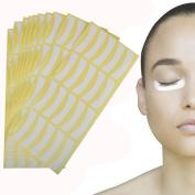 Makeup Eye Pad Sticker, 400pcs White Soft Lint Under Eye Patch Pad Sticker, Tapes, False Eyelash,Eye Lashes Extension Disposable Non-woven EYE PADS for Eyelash Tinting & Lash Extension Makeup Tool Lip Powder Holder