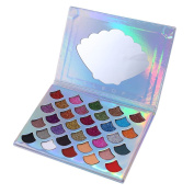 Sylvia QEr Shell-shaped 32 Colours Eyeshadow Makeup Palette, Sequined Glitter Eye Shadow Beauty Cosmetic Tool for Professional and Daily Use