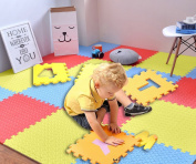FB FunkyBuys® Large Multicolor Interlocking Non Slip Thick Leaf Eva Mat Yoga Excise Protective Floor Tiles
