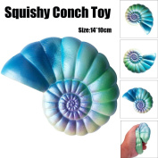Soft Toys,Familizo 14CM Jumbo Colourful Conch Cartoon Squishy Slow Rising Dolls Squeeze Fun Gifts