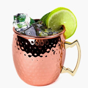 Mug Barrel530ml Copper Plated Hammered Stainless Steel Moscow Mule Mug