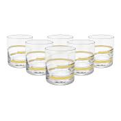 Glazze Crystal APP-051-GL Appalachia Old Fashioned Whiskey Glass, Gold