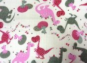 Muslin Squares Printed Pack of 5 Colourful Burp Cloth 70x80 Cotton New
