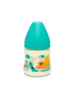 SUAVINEX 302693 – 3 Positions Silicone Teat, 150 ml Dinosaurs, Light Blue