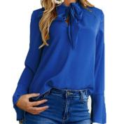 Women's Shirt, Toamen Women Fashion Flare Long Sleeve V Neck Blouse Casual Tops