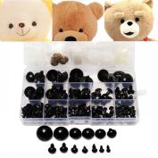 154pcs 6 to 24mm Plastic Eyes Black Safety Eyes Washers Teddy Bear Doll Animal DIY Eye Case Children Kid Toys