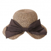 Cdet Women Sun Hat Khkia Bowknot Straw Bucket Hat Lady Sunscreen Hat Cap for Girl