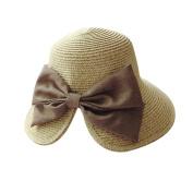 Cdet Women Sun Hat Bowknot Straw Bucket Hat Lady Sunscreen Hat Cap for Girl