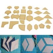 hunpta Mixed Collar 54 PCS Tools Models Of Acrylic DIY For Patchwork