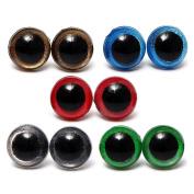 Pinzhi®80Pcs 10mm 8 Colours Plastic Safety Eyes Craft for Teddy Bear Soft Toys Making Doll Plush Animal