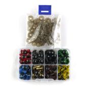 MAGIC SHOW 80pcs Black Plastic Safety Eyes for Bear, Doll, Puppet, Plush Animal 8,9,12mm choose TO311