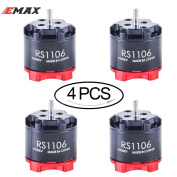 4pcs EMAX RS1106 4500KV Brushless Motor Racing Edition for 60 70 80 90 100 FPV Racing Drone Quadcopter by Crazepony