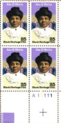 1990 IDA B WELLS ~ BLACK HERITAGE #2442 Plate Block of 4 x 25 cents US Postage Stamps