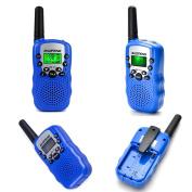 BaoFeng BF-T3 Walkie Talkies for Kids 22 Channel Two Way Long Range Handheld Radio Child kids Walkie Talkie Built-in Flashlight Microphone (2 Pcs) Blue