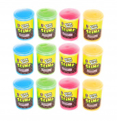 Glow In The Dark Slime - Bulk Pack Of 12 Assorted Colours Slime