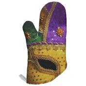 Mardi Gras Mask All Over Oven Mitt Multi Standard One Size