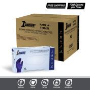 1st Choice Indigo Nitrile Exam Latex Free Disposable Gloves - 1EINL - 8 Mil - Large
