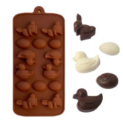 Kitchen Tools - Scottie/ Rabbit/ Mouse/ Fish/ Owl/ Pig Shape Ice Cube Tray - Silicone Mould Chocolate Ice Cube Tray Fondant Moulds DIY SOAP Mould Jello Candy - Best Choice for Kids
