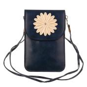 Touch Screen Cellphone Pouch Bag Women's 15cm PU Leather Shoulder Bag Crossbody Purse Wallet Bags