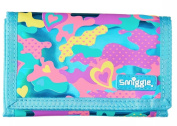 Smiggle Wallet Blue Chaos Love Heart with Zip Pockets