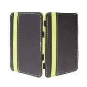 MagiDeal Magic Wallet Slim Money Clip Credit Card Holder ID Mens Pu Leather Purse - Green