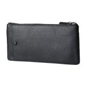 MagiDeal Fashion Men's Leather Wallet Multi Card Holder Clutch Long Purse Billfold - Black