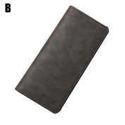 Pomineer Durable Soft Scrub Leather Slim Wallet Long Thin Billfold Multi-Card Wallet