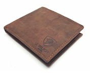 RFID BLOCKING Protection Distressed Brown Genuine Leather J Wilson London Mens Wallet With Zip Coin Pocket Gift Boxed