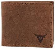 KRYPT 'Johnny the Fast' RFID-blocking genuine buffalo leather wallet in vintage style - RusticBrown