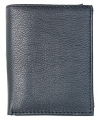 Nice Quality Black Wallet Whole Made of Genuine Leather Without any Logos or Markings