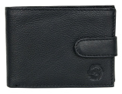 Black Wallet Made Whole of Genuine Leather HL With a Buckle