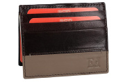 Wallet man EGON FURSTENBERG moro in real leather with spring money clip VA892