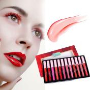 Woya 12 Colour Long Lasting Waterproof Lipstick Lip Gloss Set