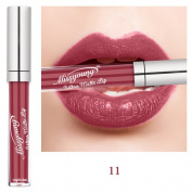 Matte Metallic Shimmer Liquid Lipstick,Woya Long Lasting Waterproof Lip Gloss