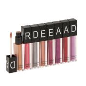 Baosity Lots 8pcs Girls Metallic Matte Lip Gloss Liquid Lipstick Beauty Lip Makeup Pencil Set