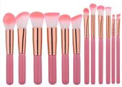 Cosanter Professional Wooden Holder Makeup Brushes Blush Eyeshadow Cosmetics Brush Set