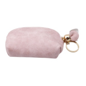 Albeey Women's Zip Around Rose Pattern Ornament PU Leather Wallet Coin Purse