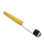 MagiDeal Bamboo Handle Flat Dense Top Liquid Cream Foundation Powder Blusher Bronzer Makeup Brush Tool