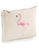 Danni Rose Pink Flamingo Pencil Case, Make Up Bag